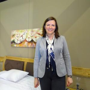 Aneta Adamczyk z firmy Telmex. Fot. Beata Michalik