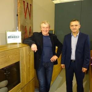Zygmunt Dmochewicz i Wiesław Michalak z firmy Dekort. Fot. Beata Michallik