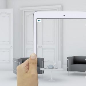 Intiaro to narzędzie, które do urządzania wnętrz wykorzystuje technologię AR (Augmented Reality). Polega ona na nakładaniu w czasie rzeczywistym grafik 3D na obraz z kamery. Fot. Agitive