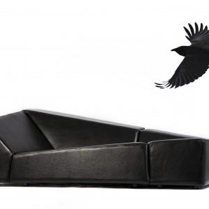 """Kanapa """"Crow"""" (proj. Kosmos Project) trafiła do seryjnej produkcji dzięki włoskiej firmie Lounge. Fot. Kosmos Project"""