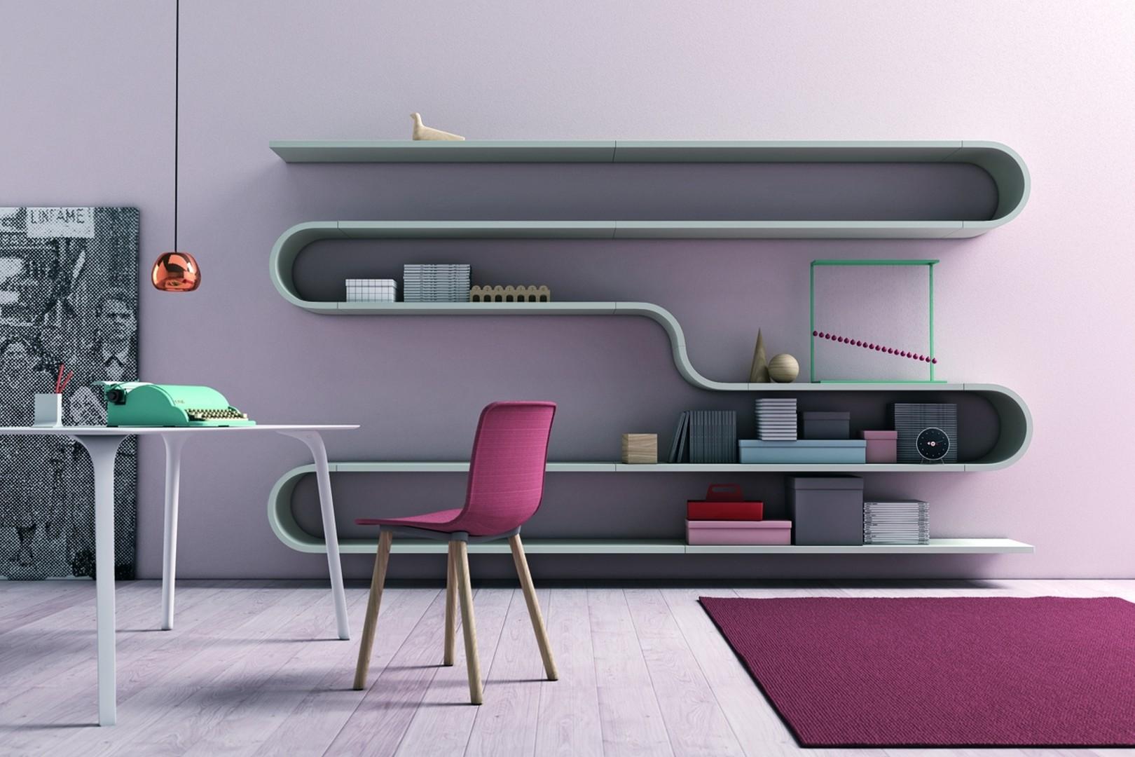 Półki na książki Novamobili Wave. Fot. Go Modern Furniture