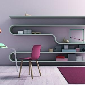 Półki na książki Novamobili Wave. Lubisz nietypowe aranżacje? Ten regał został stworzony dla ciebie. Fot. Go Modern Furniture