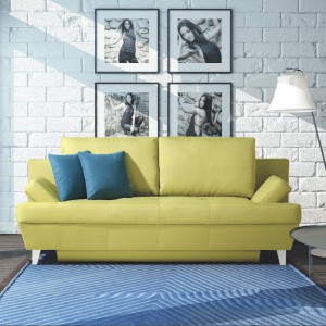 Celano to sofa w najmodniejszym aktualnie kolorze oliwkowym. Wyróżnia się także rozłożystą formą. Fot. Meblomak