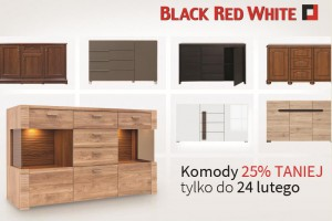 Komody Black Red White tańsze o 25%!