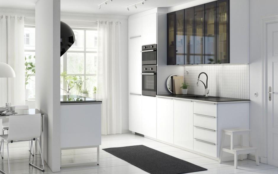 Urządzamy  Modna kuchnia 10 aranżacji w czerni i bieli   -> Kuchnia Mala Ikea