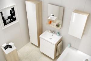 Biała łazienka. Meble, które ją optycznie powiększą