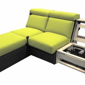 """Mechanizm fotela """"SF 056-B-5"""" stosuje się w fotelach lub sofach w oddzielnych, pojedynczych siedziskach. Producent: Stalmot&Wolmet. Fot. Stalmot&Wolmet"""