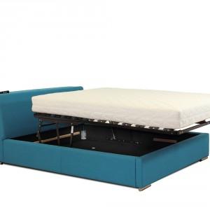 """Firma Stalmot&Wolmet oferuje ramę łóżka """"RU 297-5"""" oraz podnośnik pneumatyczny """"PZ 217-D-5"""" . Mechanizm ten umożliwia nie tylko otwarcie pojemnika na pościel, ale również rozłożenie łoża do pozycji wygodnego ścielenia. Fot. Stalmot&Wolmet"""