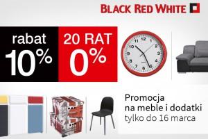 10% rabatu i 20 rat 0% na meble i dodatki w Black Red White