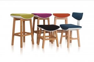 """""""Torii"""" - hokery, krzesła i taborety o lekkiej formie"""
