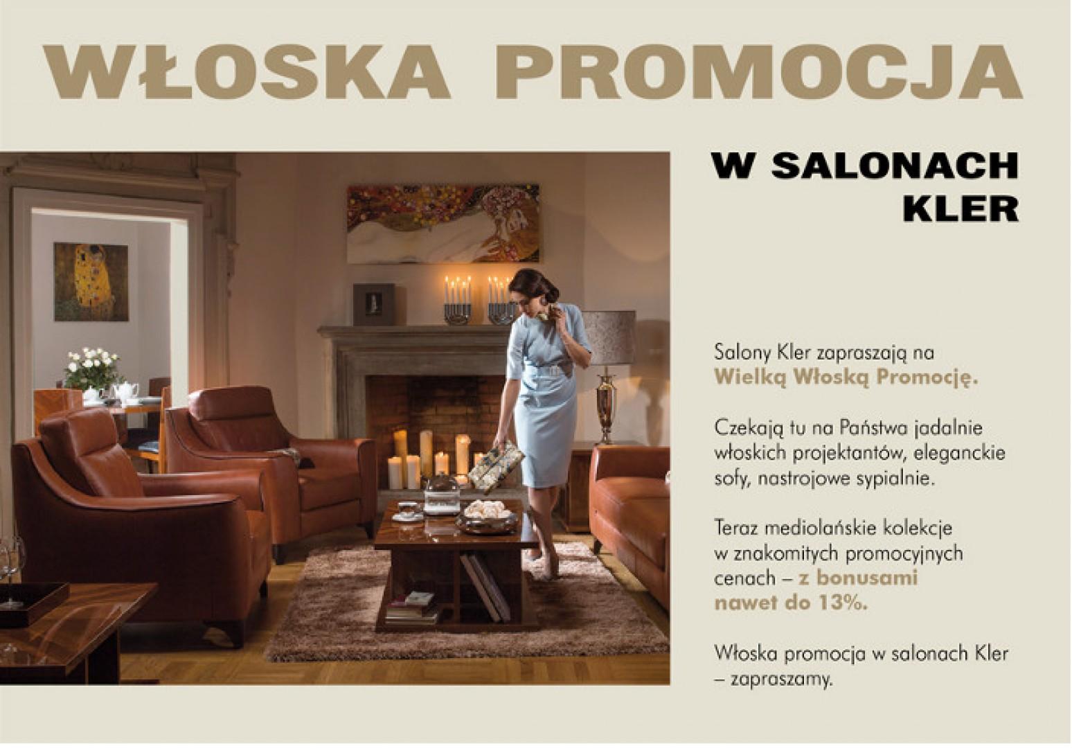 okazje w�oska promocja w salonach kler meblecompl