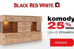 W Black Red White komody 25% taniej