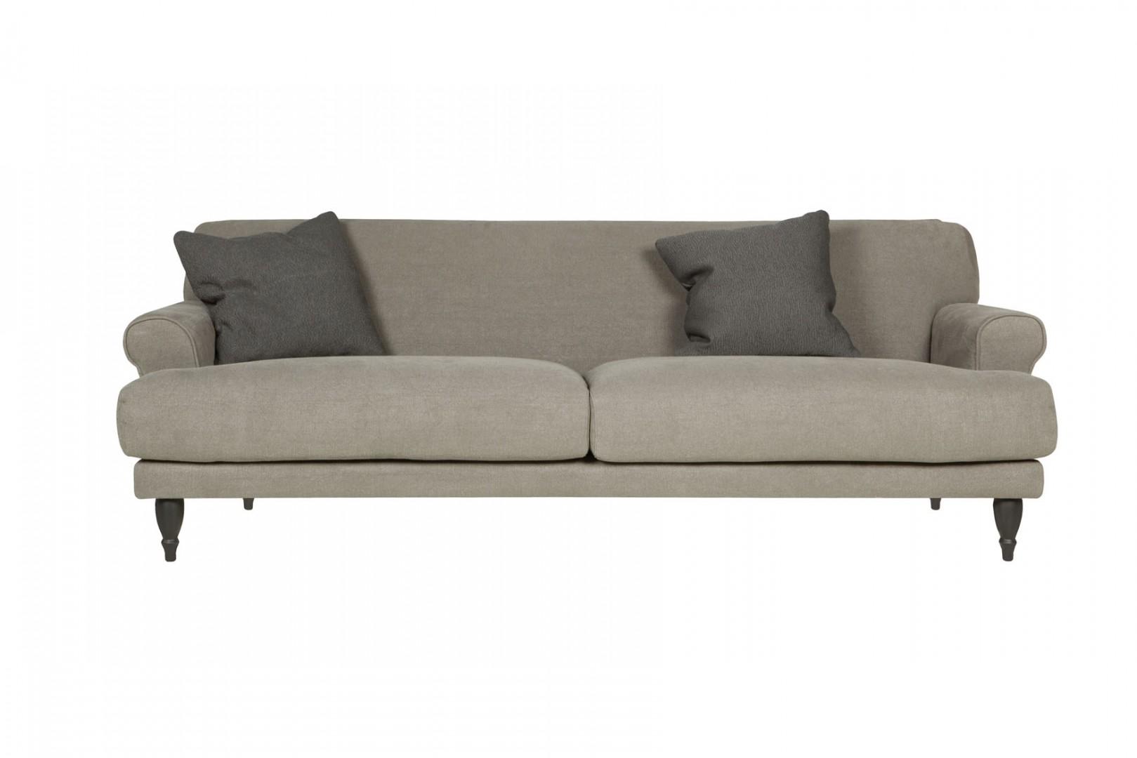 Sofa Rasmus w swojej lnianej odsłonie idealnie wpasuje się we wnętrza przytulne, gdzie panuje rodzinny klimat. Fot. Sits