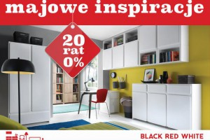 Majowe inspiracje w 20 ratach 0% w Black Red White