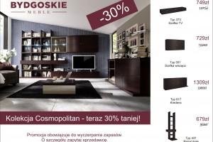 Kolekcja Cosmoplitan 30% taniej w Bydgoskich Meblach
