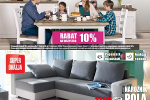 """Rabat 10% na wszystko"" w Agata Meble"