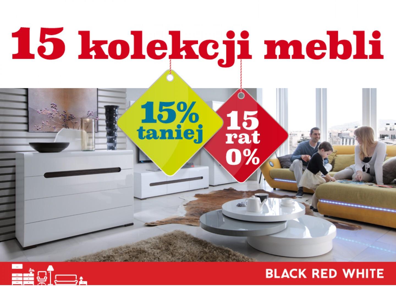 15 kolekcji 15% taniej i 15 rat 0% w Black Red White.