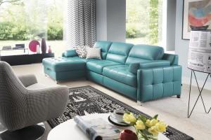 Sofa w salonie. 10 nowości tapicerowanych skórą