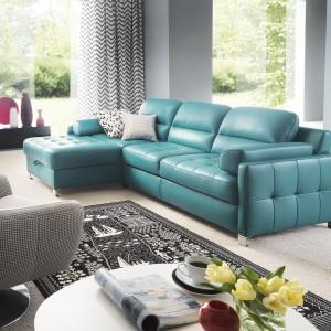 """Sofa """"Fiorino"""" (Gala Collezione) jest pikowana nie tylko na oparciach, ale również na siedzisku i bokach. Fot. Gala Collezione"""