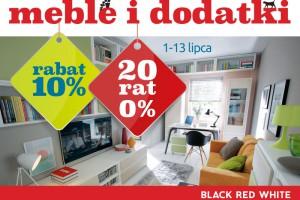W Black Red White 10% rabatu na meble i dodatki oraz 20 rat 0%