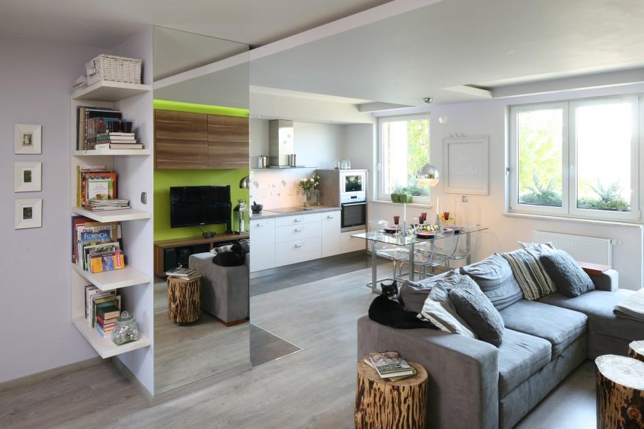 Urządzamy  Modne wnętrze Świetne aranżacje z lustrem  meble com pl -> Urządzamy Mieszkanie Kuchnia
