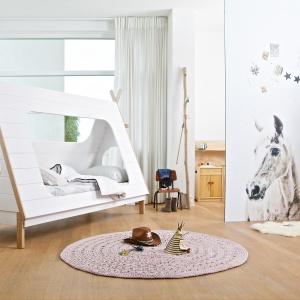 Łóżko Tipi w kształcie indiańskiego namiotu. Fot. Seart
