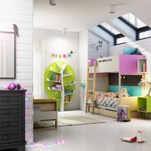 Kolory zawsze sprawdzają się w pokoju dziecięcym. Fot. Timoore