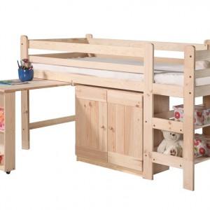 Łóżko piętrowe z biurkiem. Fot. Pinio