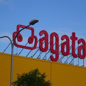 Nowe logo sieci sklepów Agata.