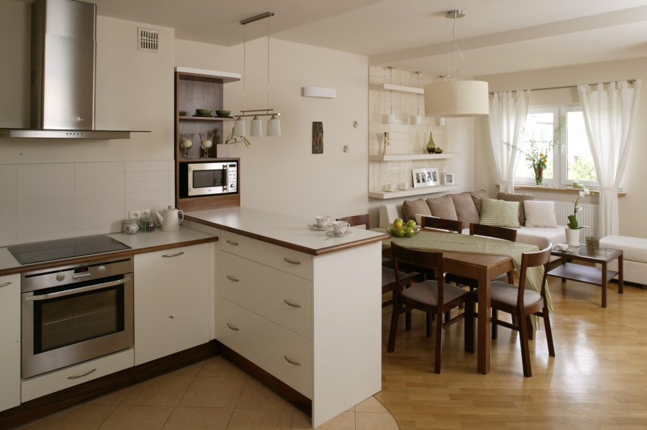 Urządzamy  Kuchnia z salonem 15 pomysłowych aranżacji   -> Kuchnia Angielska Z Salonem