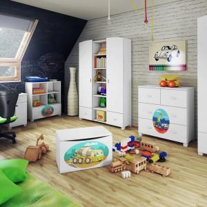 Kolekcja mebli Toys z postaciami z kreskówek wprowadzi do wnętrza pokoju dziecięcego bajkowy klimat. Fot. Miretto