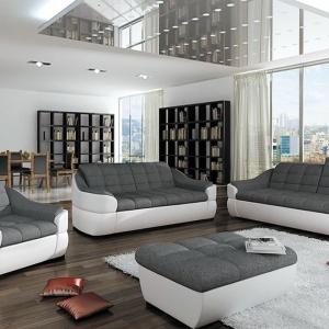 Zestaw wypoczynkowy Infinity posiada regulowane zagłówki zapewniające wygodny wypoczynek. Komplet składa się z sofy 2 i 3-osobowej oraz fotela. Cena: około 4.000 zł. Fot. Pyka