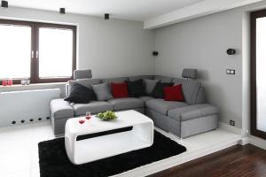 15 pomysłów na szarą sofę