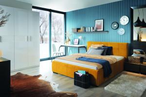 Kolorowa sypialnia - inspirujące pomysły na wnętrze