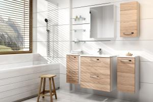 Meble w łazience. 12 propozycji w drewnie