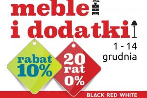 Meble i dodatki w Black Red White 10% taniej oraz 20 rat 0%