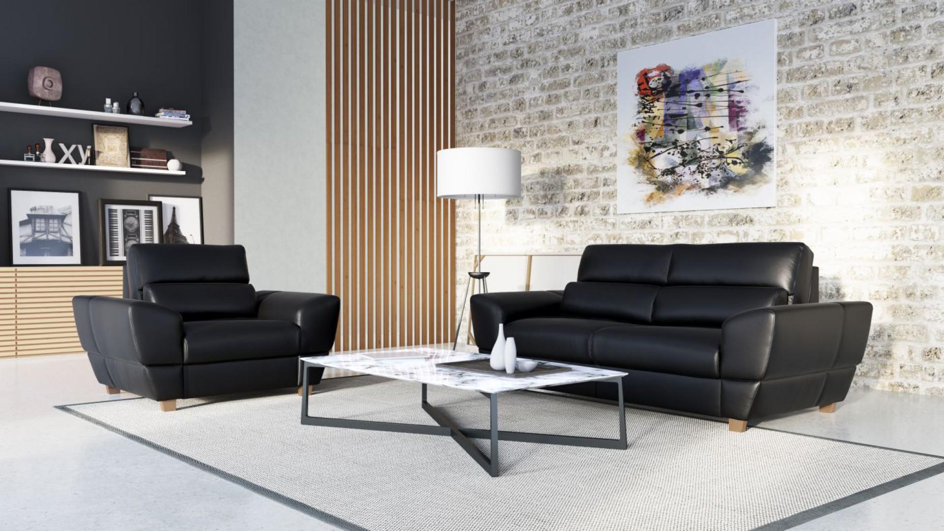 Zestaw Leo to nowoczesne meble wypoczynkowe, które sprawią, że salon będzie prezentował się elegancko i stylowo. Fot. Etap Sofa
