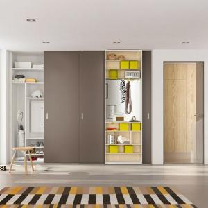 Wnętrze szafy na zamówienie można wyposażyć w funkcjonalne przegródki, półki oraz szuflady. Fot. Raumplus
