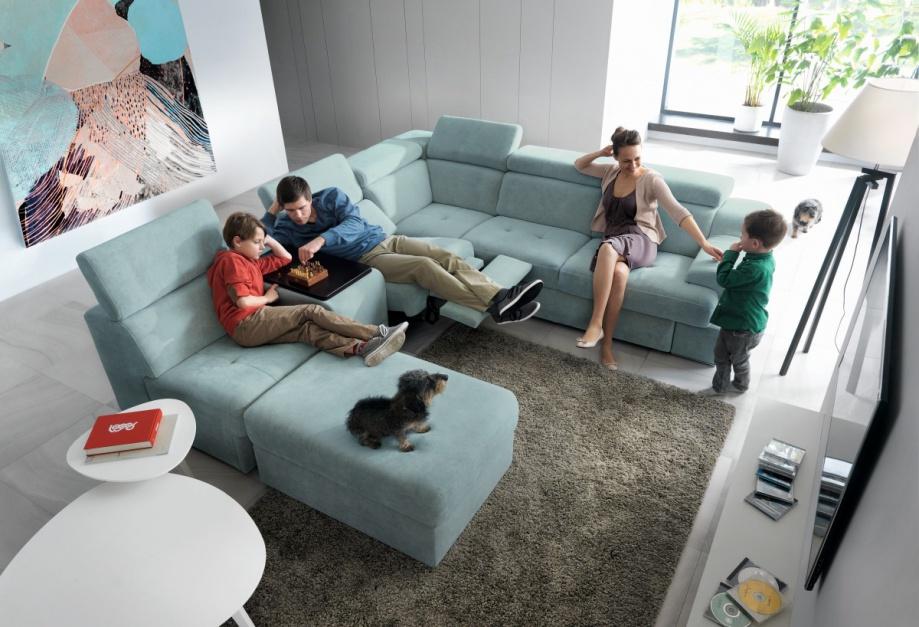 wybieramy meble sofa w salonie modne narożniki modu�owe