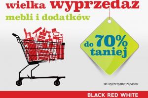 Wielka wyprzedaż w Black Red White – meble i dodatki nawet 70%  taniej!