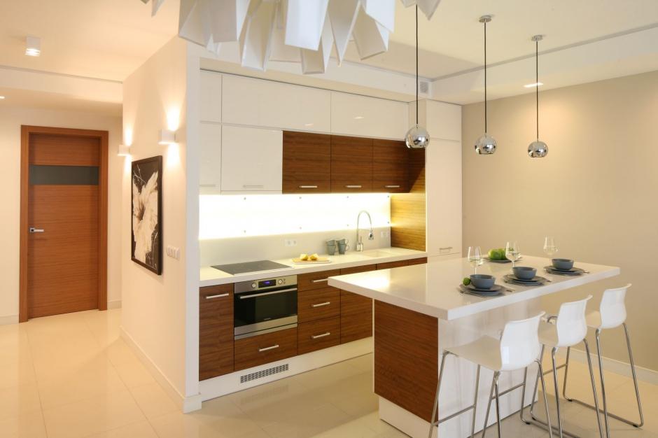 Urządzamy  Drewno w kuchni Piękne zdjęcia z polskich domów  meble com pl -> Urządzamy Mieszkanie Kuchnia