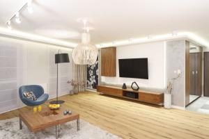 Jak zagospodarować ścianę z podwieszanym telewizorem?