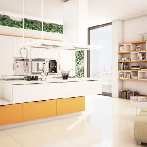 Kolor pomarańczowy sprawi, że kuchnia będzie miała pozytywną energię. Fot. Moelke