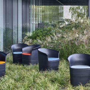 Fotel Tulli dla marki Noti zaprojektował Tomek Rygalik. Fot. Noti