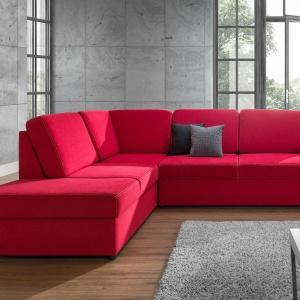 """Narożnik """"Haiti"""" firmy Gawin Meble to komfort i wysmakowany design dostępne w """"soczystej"""" kolorystyce. Fot. Gawin Meble"""