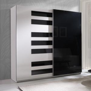 Czarno-biała szafa z systemu Zonda. Fot. Maridex