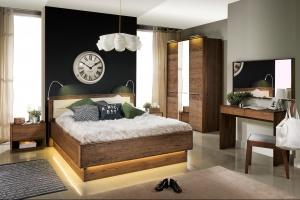 Sypialnia z litego drewna