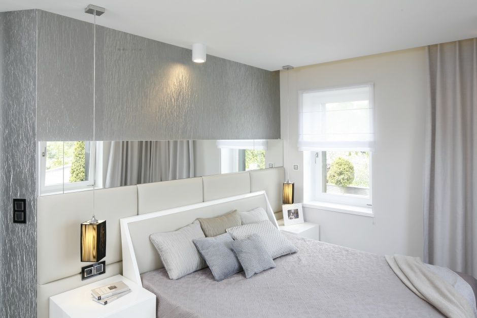 Urz dzamy nowoczesna sypialnia liczne i jasne - Parato per camera da letto ...