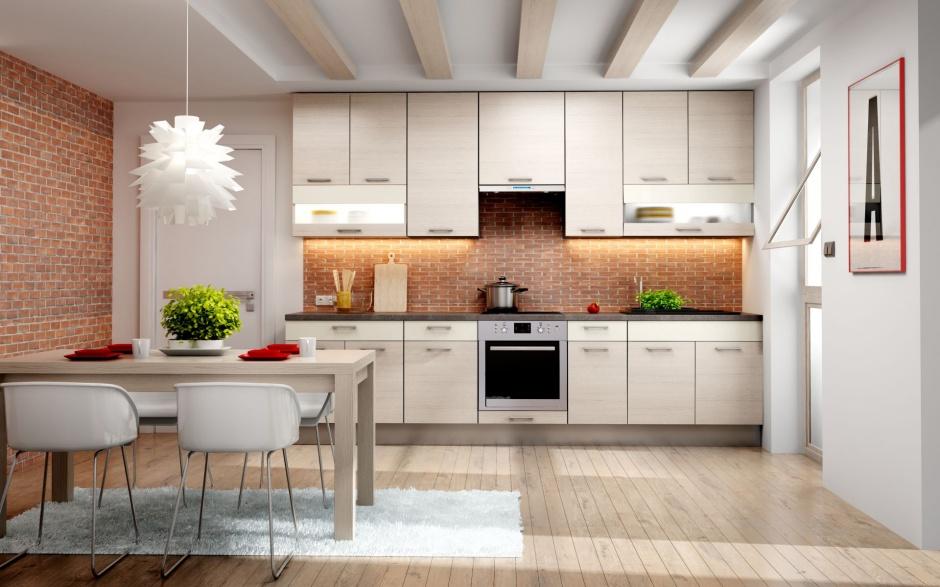 Urządzamy  Kuchnia na jednej ścianie Modny trend  meble com pl -> Urządzamy Mieszkanie Kuchnia