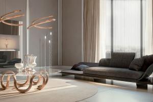 Eleganckie meble ze szkłem Murano